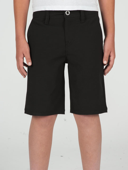 Big Boys Surf N' Turf Frickin Static Hybrid Shorts In Blackout, Front View