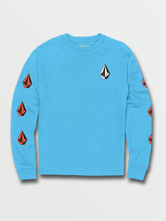 Big Boys Deadly Stones Long Sleeve Tee - Aqua (C3631702_AQU) [F]