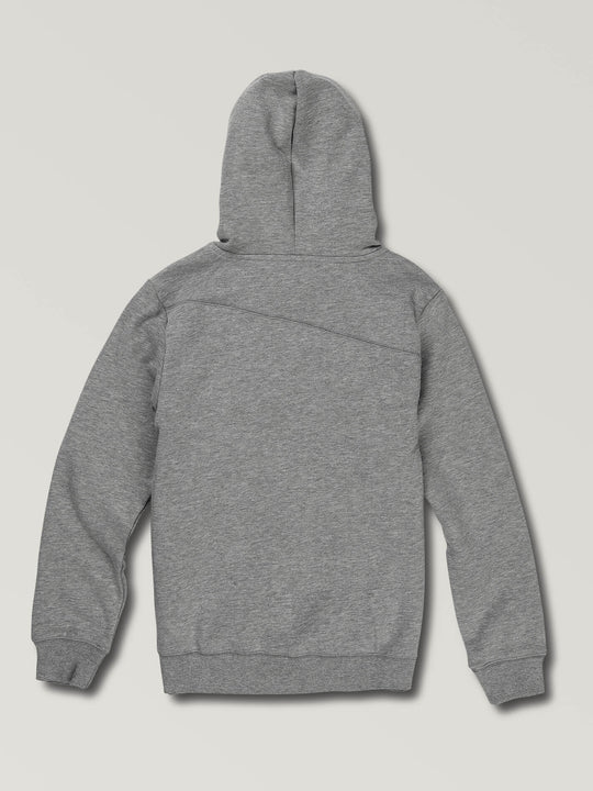 Big Boys Stone Pullover Hoodie In Grey, Back View