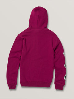 Big Boys Deadly Stones Zip Hoodie - Plum (C4831930_PLM) [B]