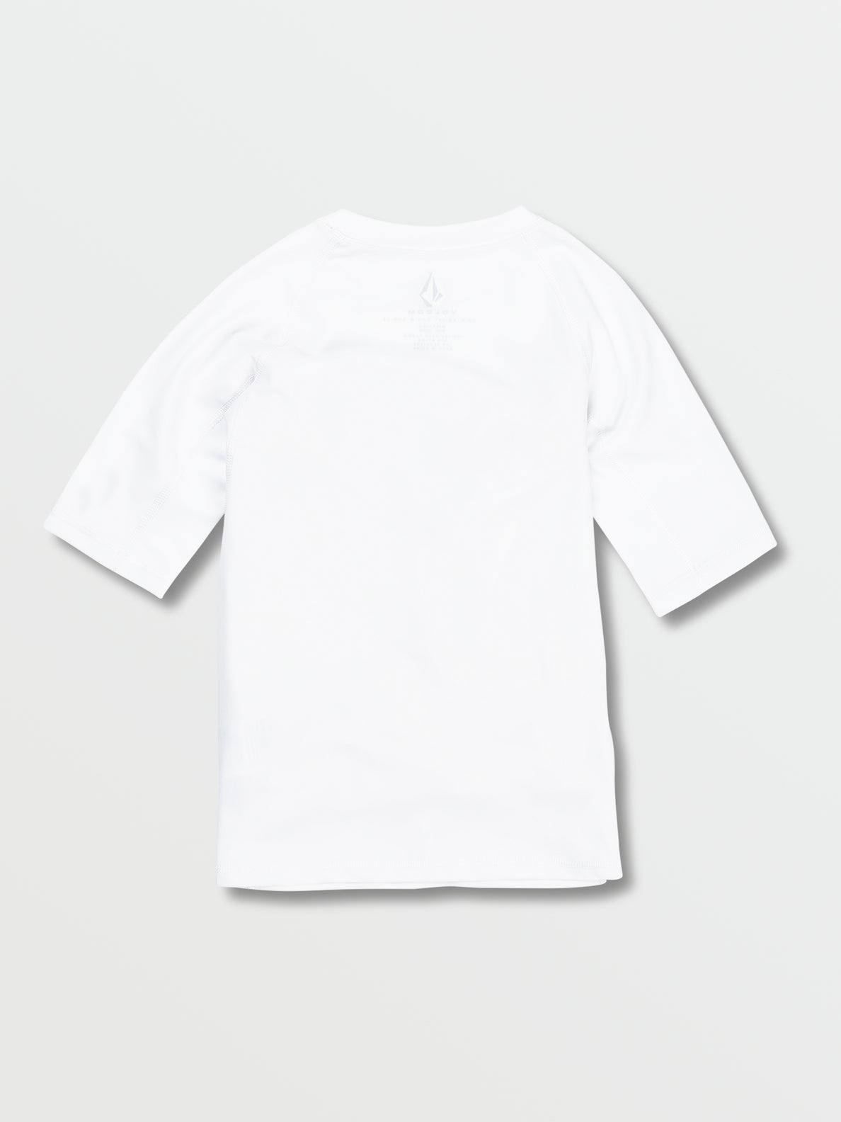 Big Boys Lido Solid Short Sleeve UPF 50 Rashguard - White (C9112000_WHT) [B]