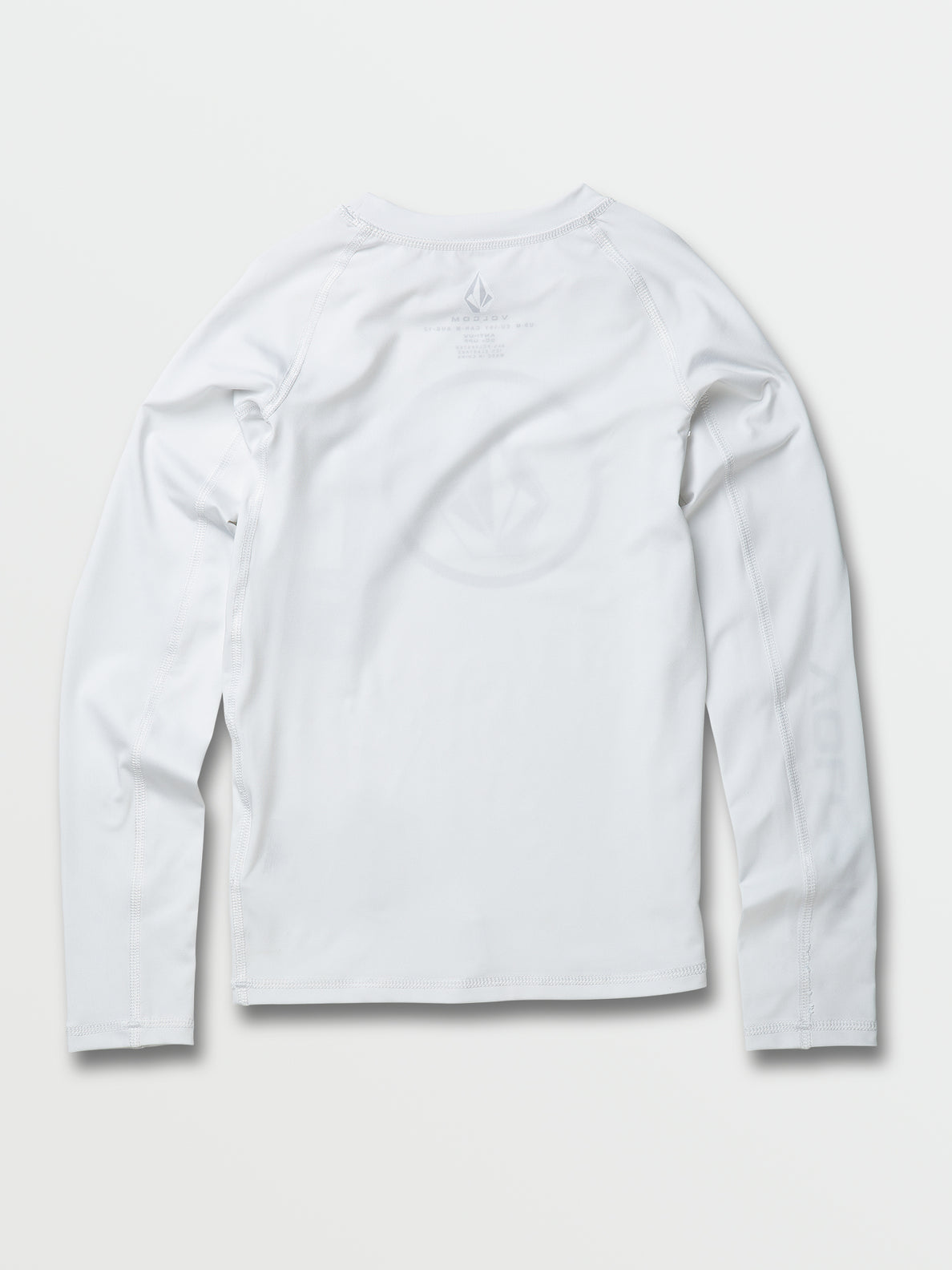 Big Boys Lido Solid Long Sleeve UPF 50 Rashguard - White (C9312000_WHT) [B]