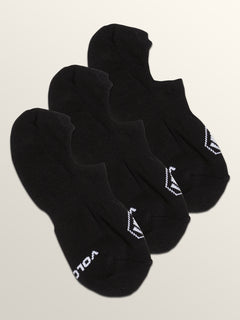 Stones No Show Sock 3 Pack In Black, Fourth Alternate View