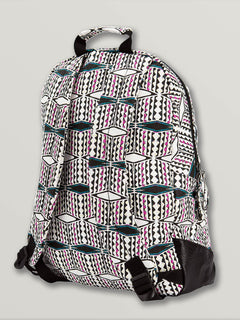 Schoolyard Canvas Backpack In Fiesta Pink, Back View