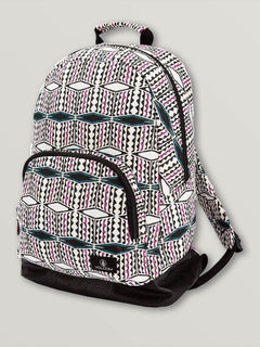 Schoolyard Canvas Backpack In Fiesta Pink, Front View