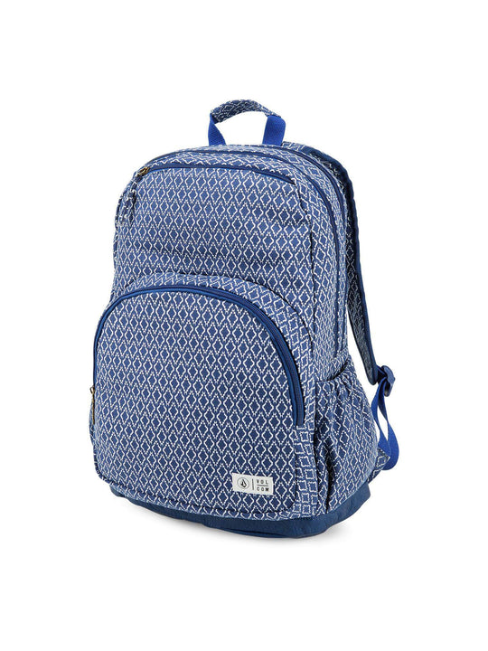 Fieldtrip Canvas Backpack In Navy, Front View