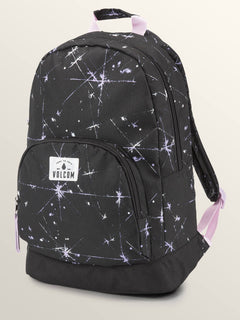 Schoolyard Poly Backpack In Blurred Violet, Front View