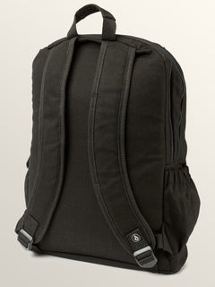 Fieldtrip Canvas Backpack In Black, Back View
