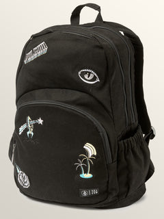 Fieldtrip Canvas Backpack In Black, Front View