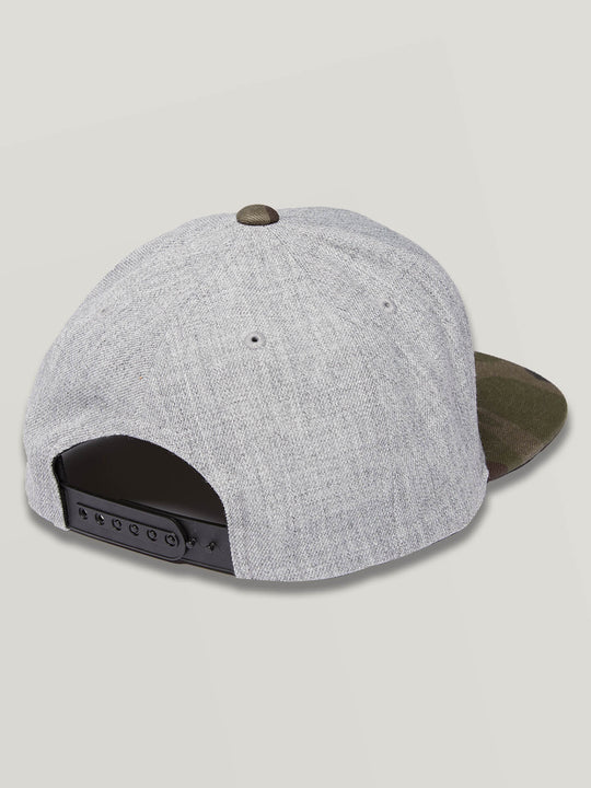 Quarter Snapback In Grey Combo, Back View