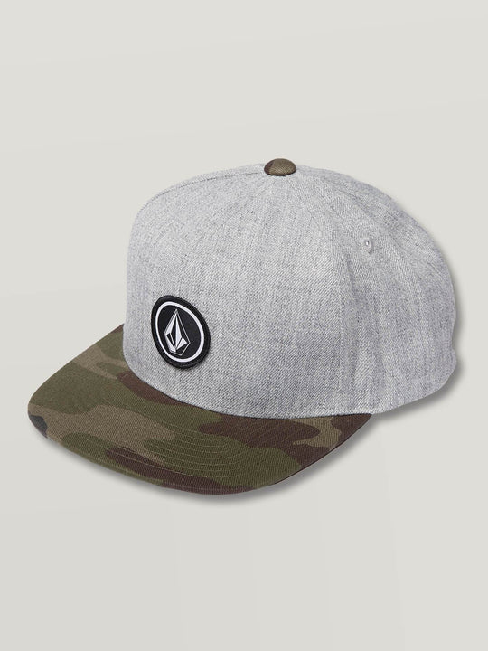 Quarter Snapback In Grey Combo, Front View