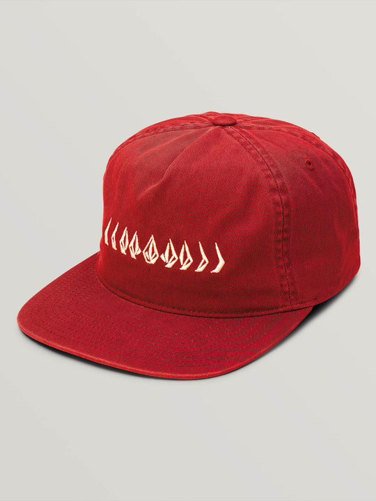 Big Boys Stone Cycle Hat In Spark Red, Front View