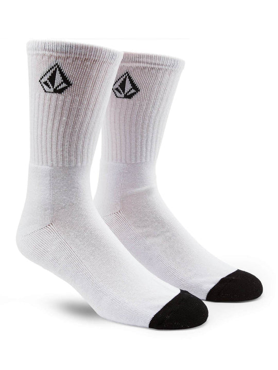 Big Boy Full Stone Socks In White, Front View