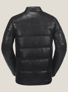 Puff Puff Give Jacket In Black On Black, Back View