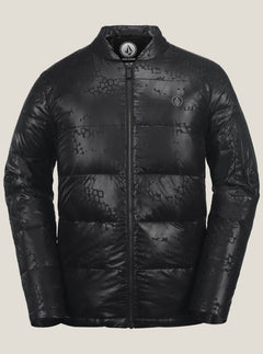 Puff Puff Give Jacket In Black On Black, Front View