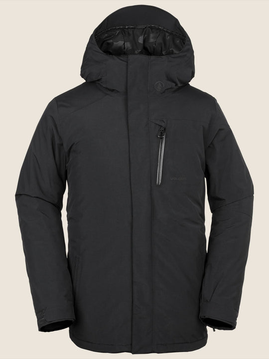 L Insulated Gore-tex Jacket In Black, Front View
