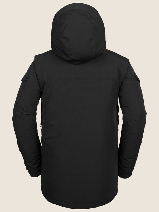 Lynx Insulated Jacket In Black, Back View