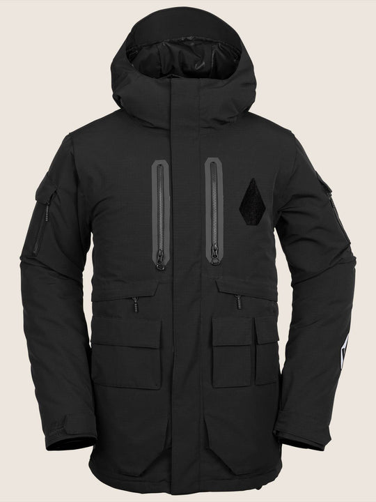 Lynx Insulated Jacket In Black, Front View
