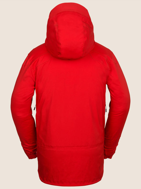 Guch Stretch Gore-tex Jacket In Fire Red, Back View