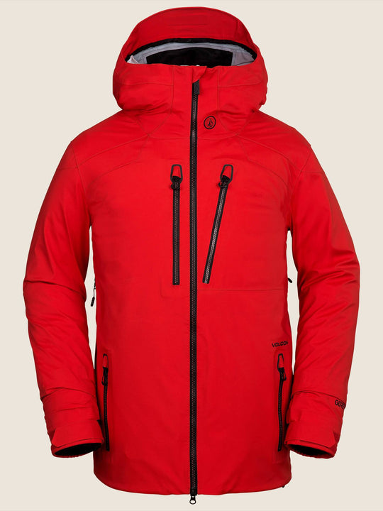 Guch Stretch Gore-tex Jacket In Fire Red, Front View