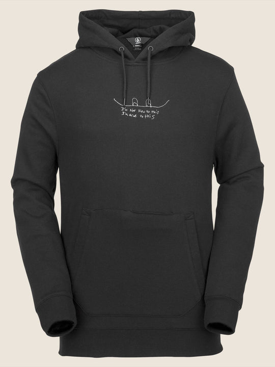 Jla Pullover Fleece In Black, Front View
