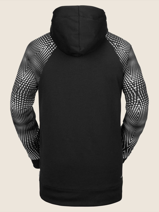 Hydro Riding Hoodie In Black White, Back View
