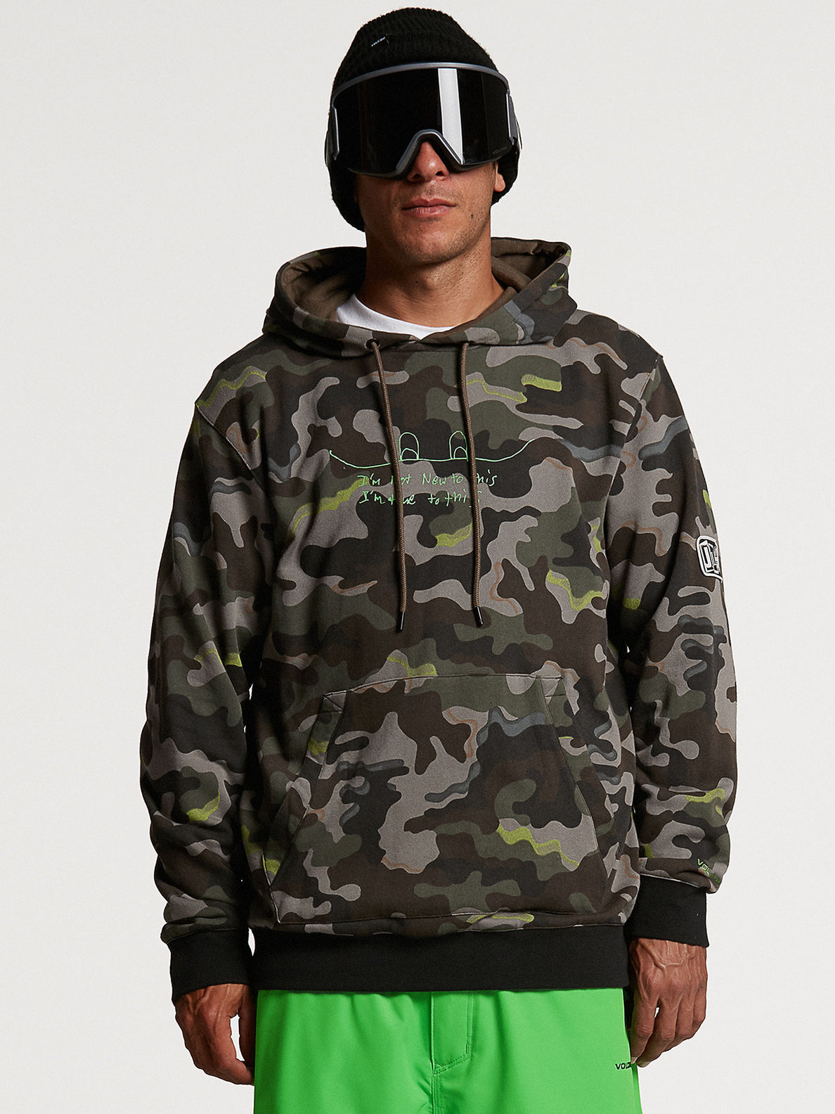 JLA P/OVER FLEECE - ARMY (G4152103_ARM) [03]