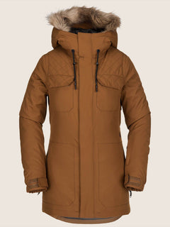 Shadow Insulated Jacket In Copper, Front View