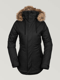 WOMENS FAWN INSULATED JACKET - BLACK (H0452011_BLK) [F]