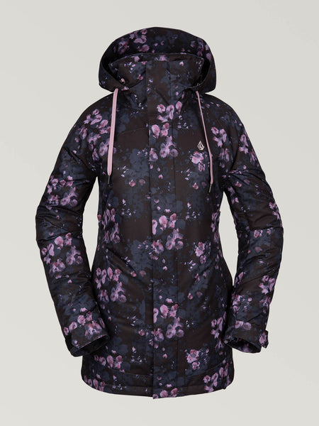 WOMENS WESTLAND INSULATED JACKET - BLACK FLORAL PRINT