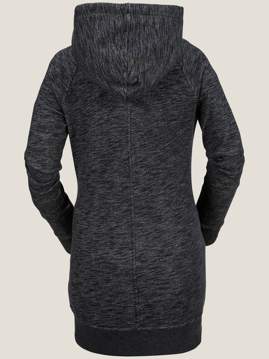 Costus Pullover Fleece In Black, Back View
