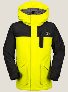 Youth Vs Insulated Jacket In Lime, Front View