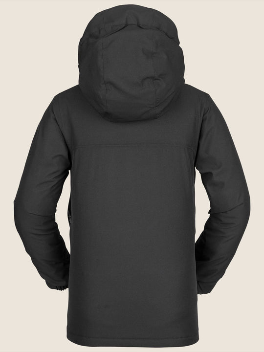 Youth Holbeck Insulated Jacket In Black, Back View