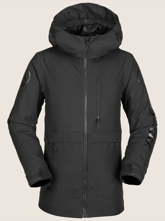 Youth Holbeck Insulated Jacket In Black, Front View