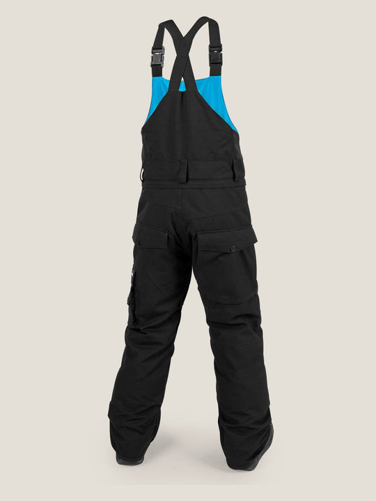 Youth Sutton Insulated Overall In Black, Back View