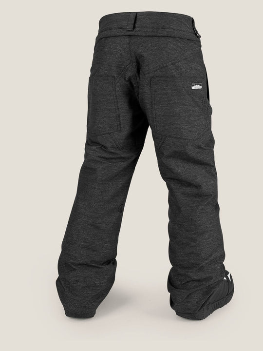 Youth Explorer Insulated Pant In Black, Back View
