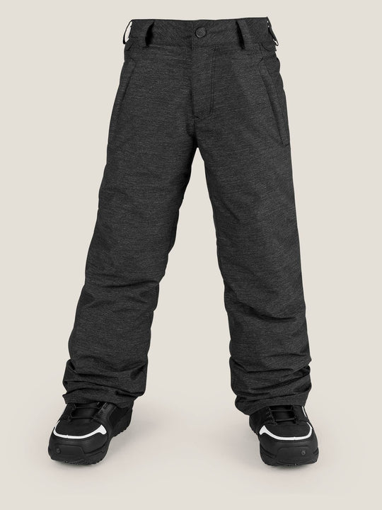 Youth Explorer Insulated Pant In Black, Front View