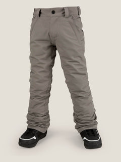 Youth Freakin Snow Chino In Charcoal Grey, Front View
