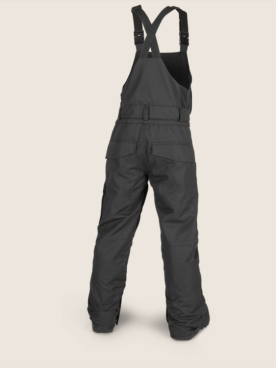 Youth Barkley Bib Overall In Black, Back View
