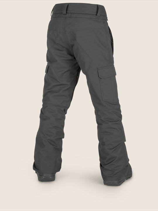 Youth Cargo Insulated Pant In Black, Back View