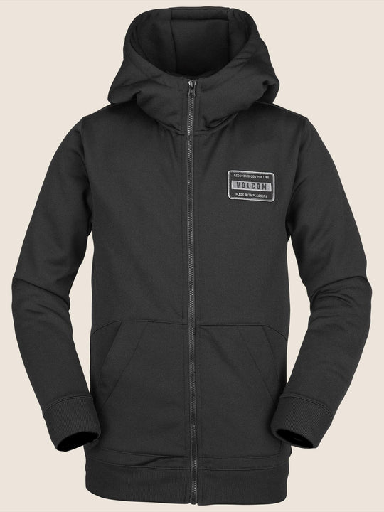Youth Krestova Fleece In Black, Front View