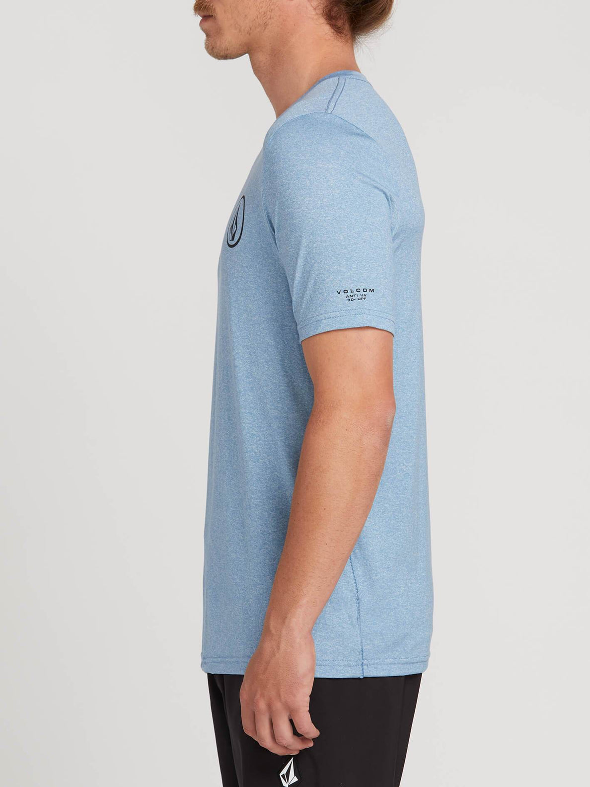 Lido Heather Short Sleeve Rashguard In Vintage Blue, Alternate View
