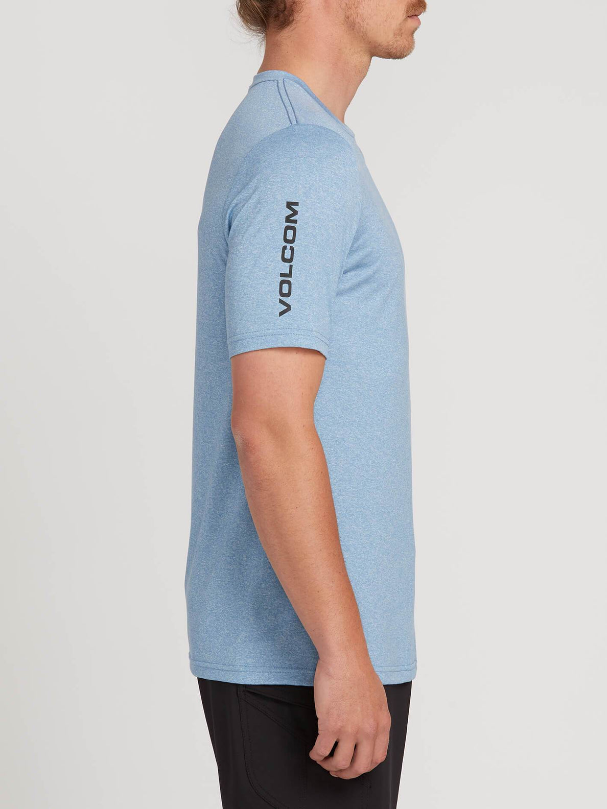 Lido Heather Short Sleeve Rashguard In Vintage Blue, Second Alternate View