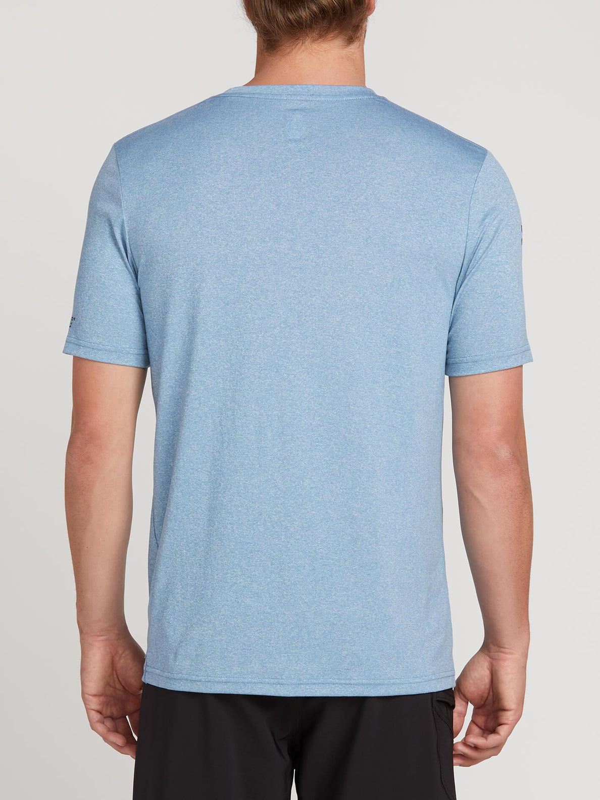 Lido Heather Short Sleeve Rashguard In Vintage Blue, Back View