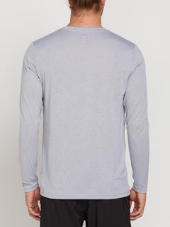Lido Heather Long Sleeve Rashguard In Pewter, Back View