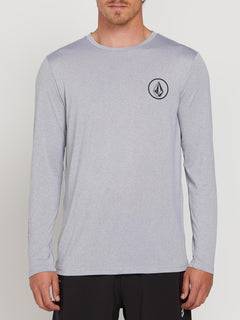 Lido Heather Long Sleeve Rashguard In Pewter, Front View