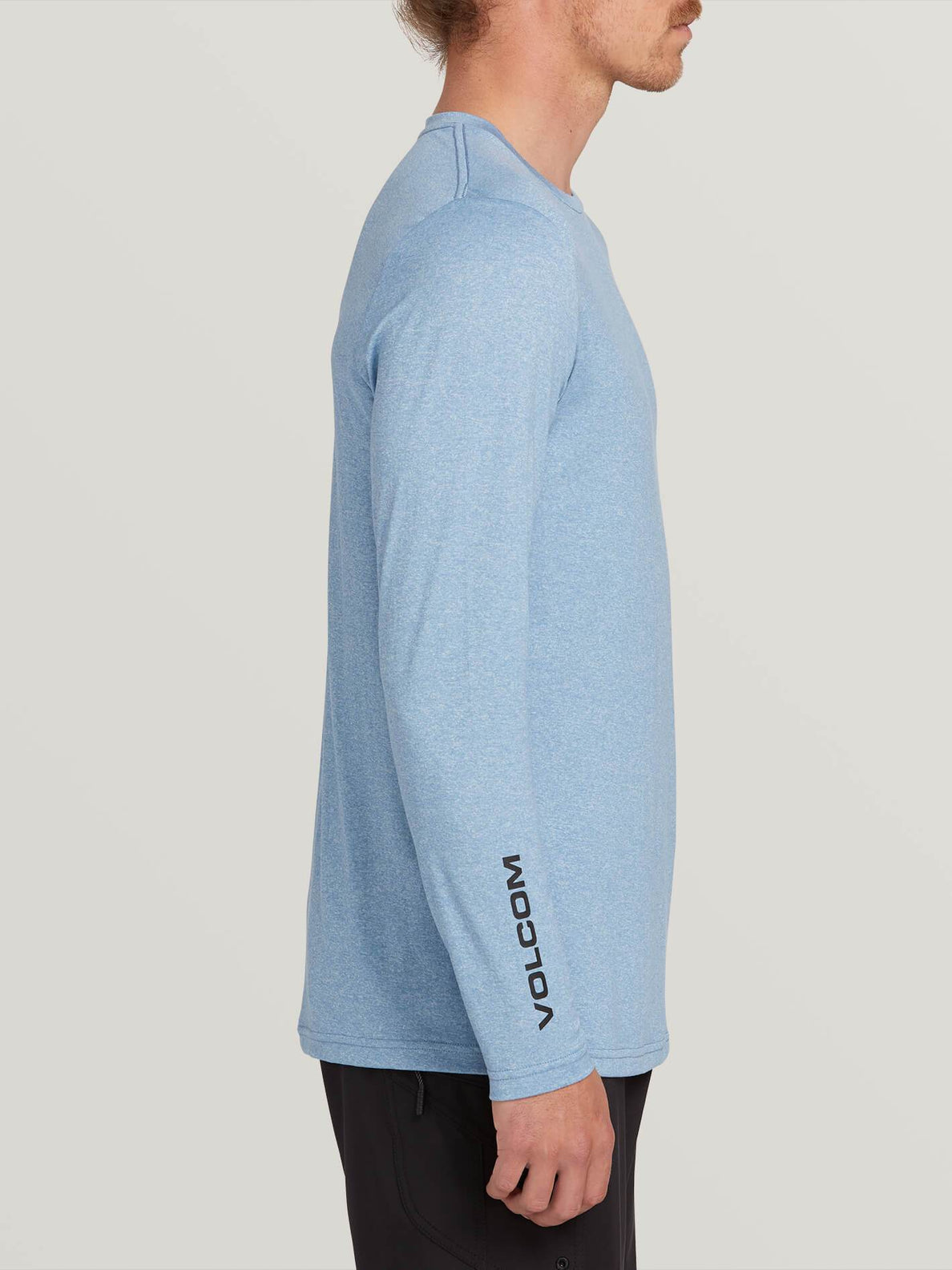 Lido Heather Long Sleeve Rashguard In Vintage Blue, Alternate View