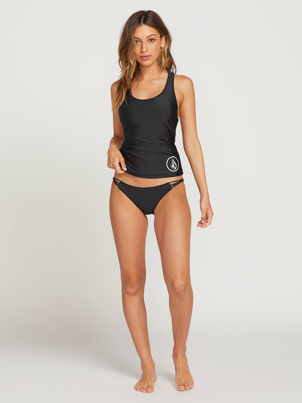 Simply Solid Tankini In Black, Second Alternate View