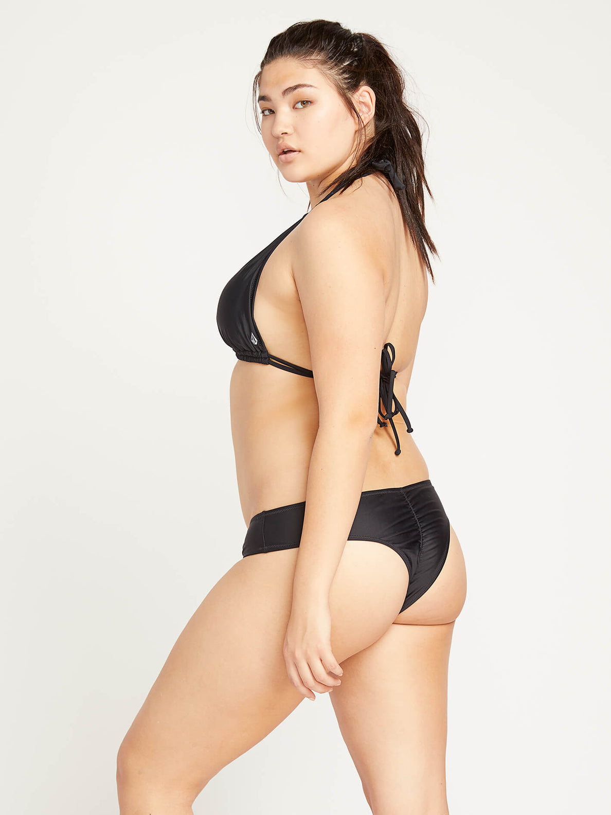 Simply Solid Cheeky Bottoms In Black, Alternate Extended Size View