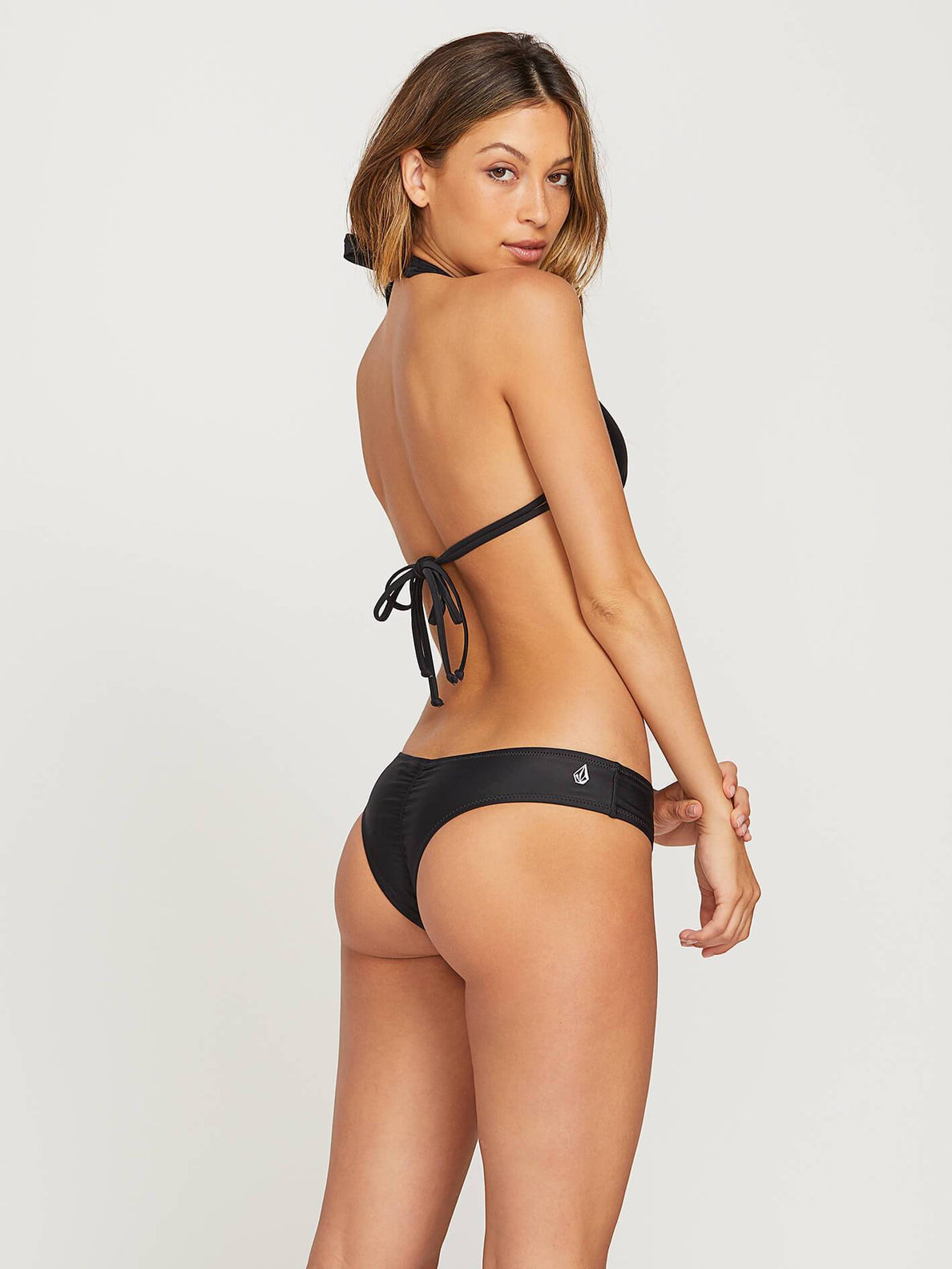 Simply Solid Cheeky Bottoms In Black, Second Alternate View